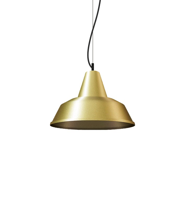 Industrial metal decorative pendant light in gold