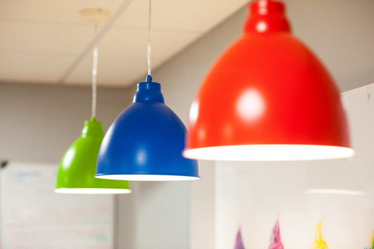 Bespoke colour ceiling pendants