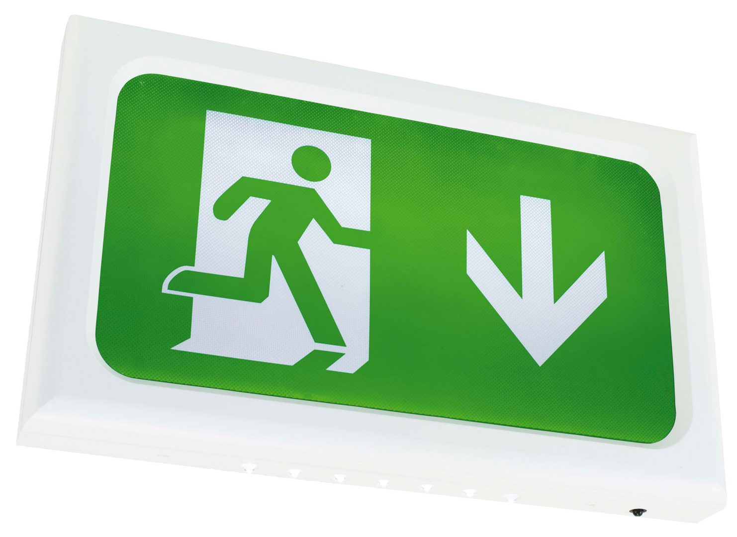 Surface emergency exit sign luminaire