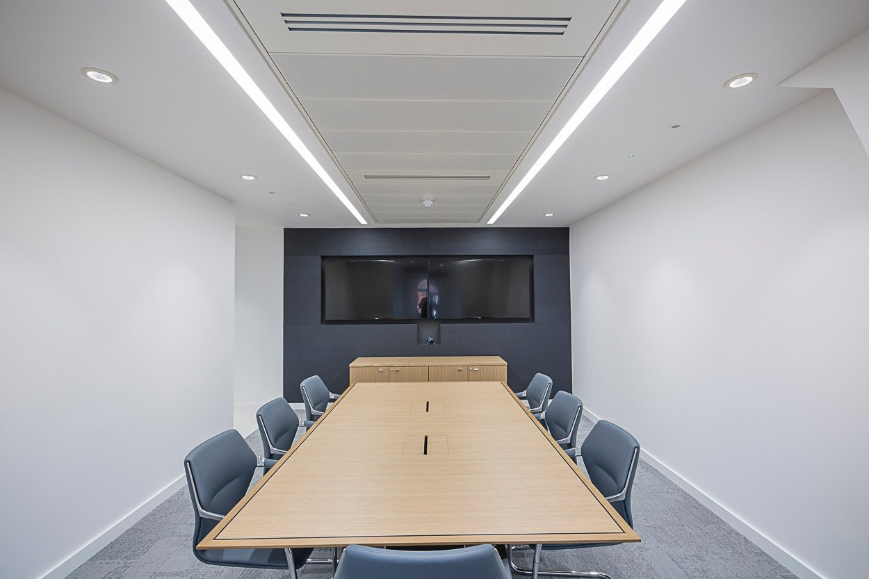 LED Linear Recessed Office Lighting