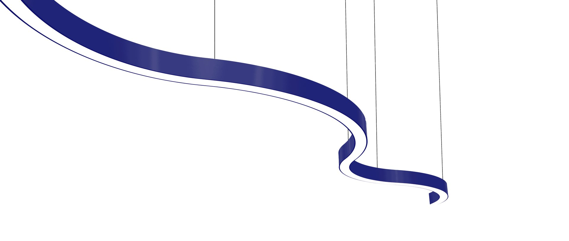 Sombrero Arc Statement Pendant Blue Navy