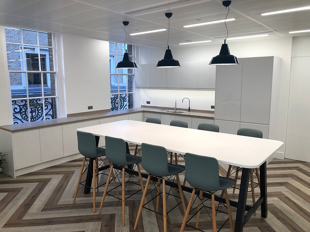 Custom colour Dome 350 Pendant light installed at Cannon Street london - web.jpg