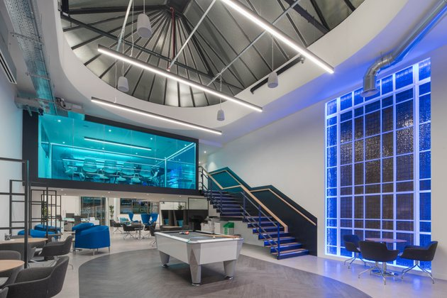 Suspended LED linear Nexus office london