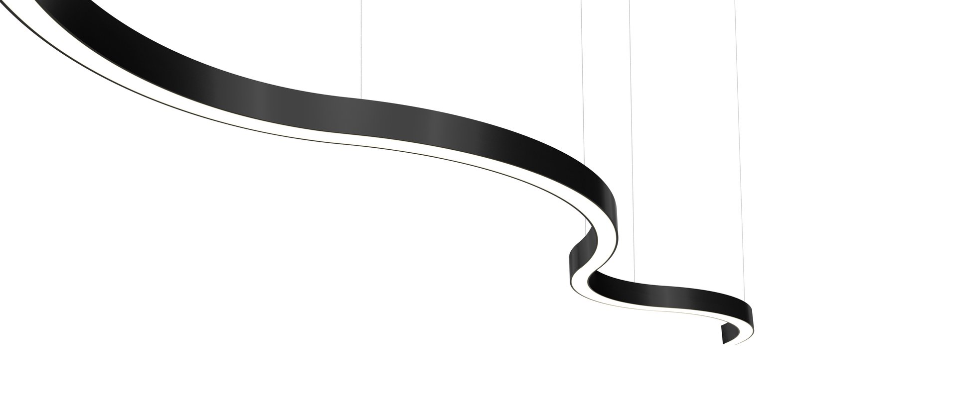 Sombrero Arc Statement Pendant Black
