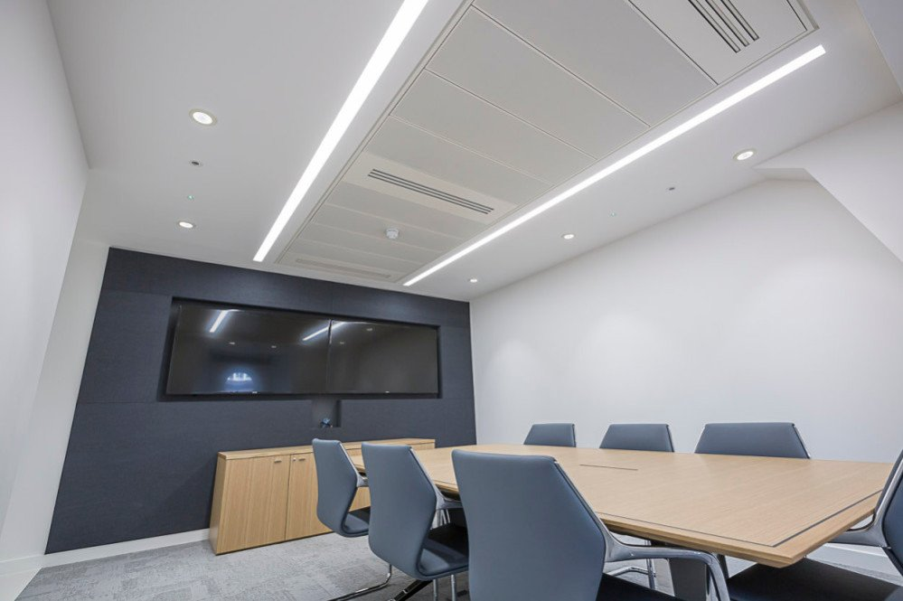 Recessed LED Linear luminaires office