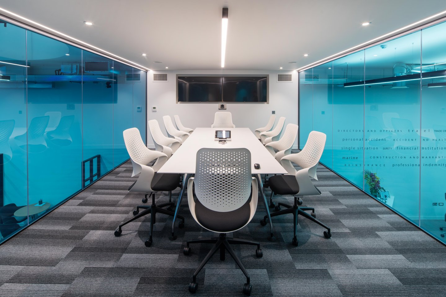 Nexus Boardroom slim profile LED linear