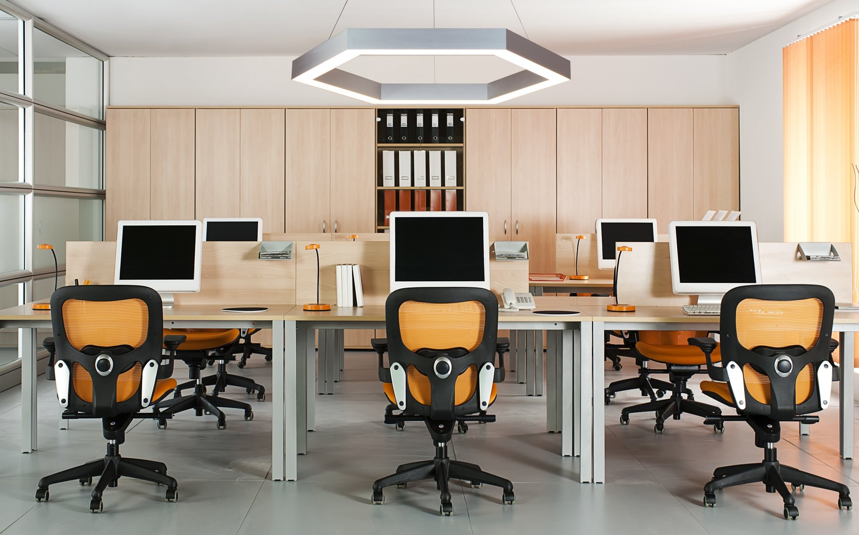 office statement hexagon LED Pendant