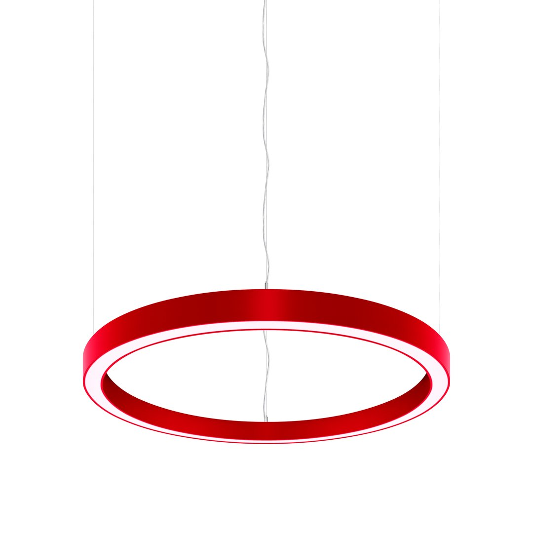 Sombrero Statement LED Ring Pendant Red